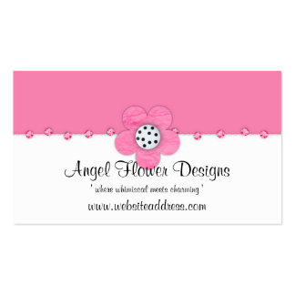 Whimsical Business Card :: Pink Flower Jewels