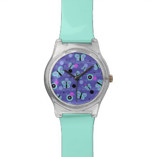 Whimsical Butterflies and Music Design Watch