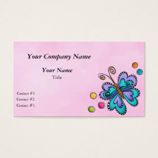 Whimsical Butterfly Business Card