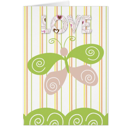 Whimsical Butterfly Card