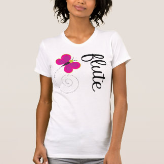 Whimsical butterfly Flute T-shirt