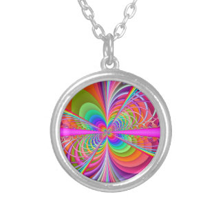 Whimsical Butterfly Fractal Art Necklace