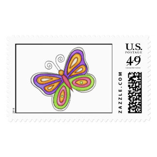 Whimsical Butterfly Stamp