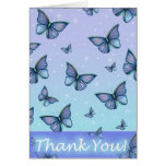 Whimsical Butterfly Thank You Card