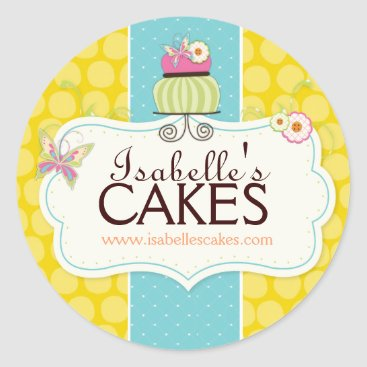 Professional Business Whimsical Cake Labels