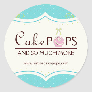 Whimsical Cake Pop Stickers