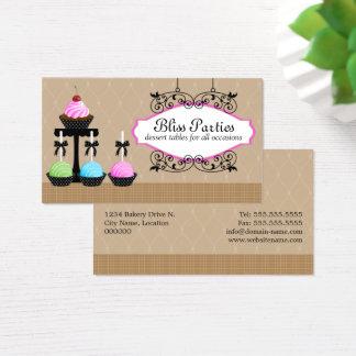 Whimsical Cake Pops Dessert Tables Business Card