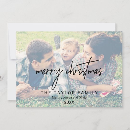 Whimsical calligraphy 2 faded photos christmas holiday card whimsical calligraphy 2 faded photos christmas holiday card m4hsunfo