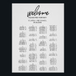 "Whimsical Calligraphy Alphabetical Seating Chart<br><div class=""desc"">This whimsical calligraphy alphabetical seating chart poster is perfect for a modern wedding. This sign can be used to organize your guests alphabetically or by table number. The design features elegant yet rustic typography for a simple minimal look. This wedding poster includes enough room for up to about 100 guests....</div>"