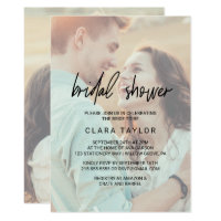 Unique bridal shower invitations announcements zazzle unique bridal shower invitations announcements whimsical calligraphy faded photo bridal shower filmwisefo