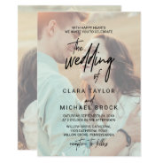 Whimsical Calligraphy   Faded Photo The Wedding Of Invitation at Zazzle