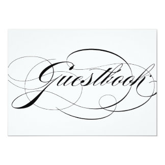 Whimsical Calligraphy | Guestbook Wedding Sign Card