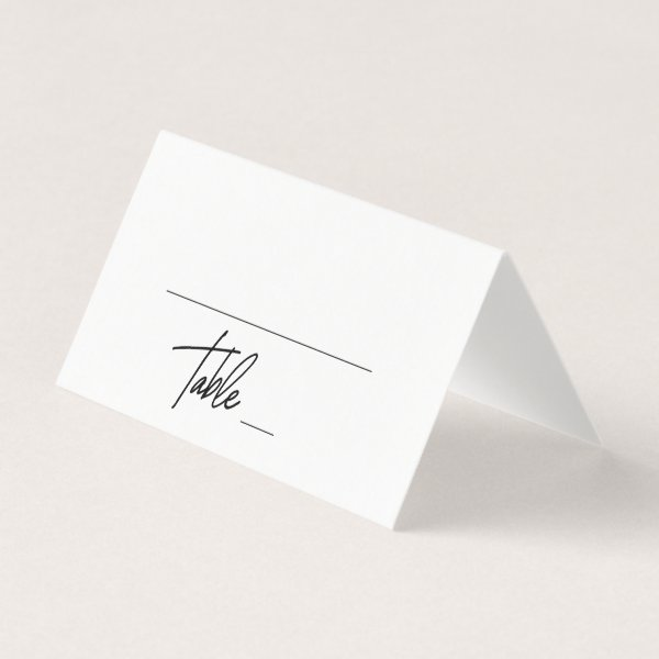 Whimsical Calligraphy Wedding Place Card