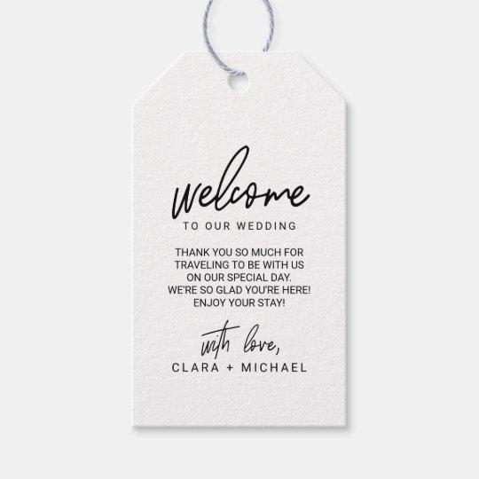 5eb7ecaaa Whimsical Calligraphy Wedding Welcome Gift Tags
