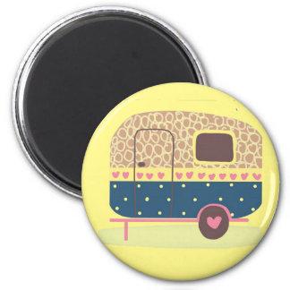 Whimsical Camp Trailer Magnet
