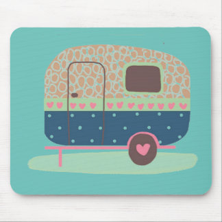 Whimsical Camp Trailer Mouse Pad