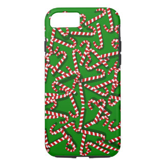 Whimsical Candy Canes on Green Christmas iPhone 7 iPhone 8/7 Case
