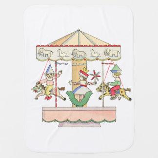 Whimsical Carousel by Tom Seidmann Freud Stroller Blanket