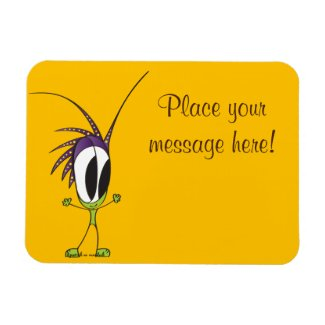 Whimsical Cartoon Character Magnet