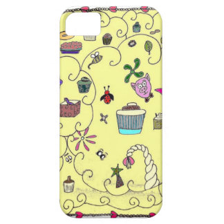 Whimsical cartoon food and animals iPhone SE/5/5s case