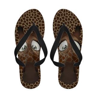 Whimsical Cartoon Giraffes Sandals
