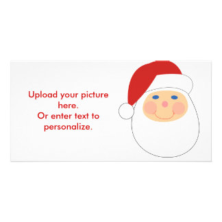 Whimsical cartoon Santa t-shirts and gifts Personalized Photo Card