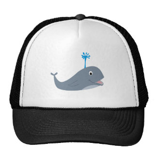 Whimsical cartoon whale t-shirts and gifts hats
