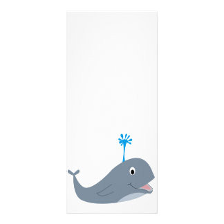 Whimsical cartoon whale t-shirts and gifts rack card