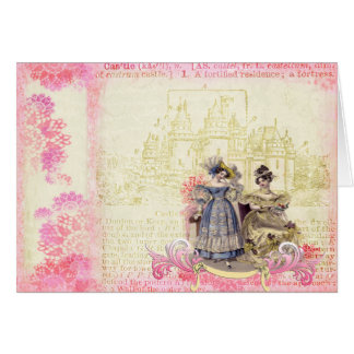 Whimsical Castle Collage Art Card