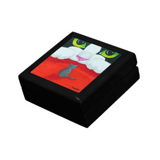 Whimsical Cat and Mouse Gift Box