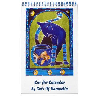 Whimsical Cat Art Calendar 2018 for Catlovers
