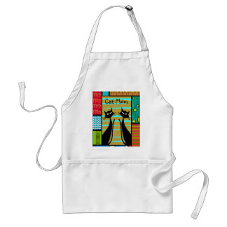 Whimsical Cat Art Gifts Adult Apron