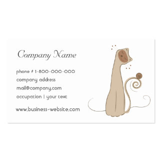 Whimsical Cat Business Card