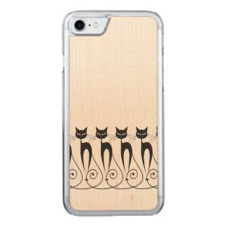 Whimsical cat carved iPhone 7 case