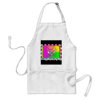 Whimsical Cat Face Gifts Adult Apron