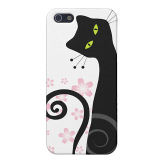 Whimsical Cat i Case For iPhone SE/5/5s