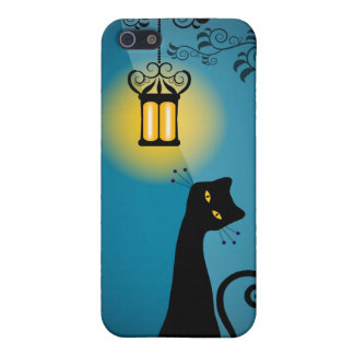 Whimsical Cat i Cover For iPhone SE/5/5s