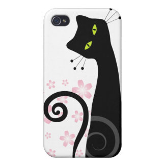 Whimsical Cat i iPhone 4 Covers