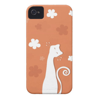 Whimsical Cat  iPhone 4 Case