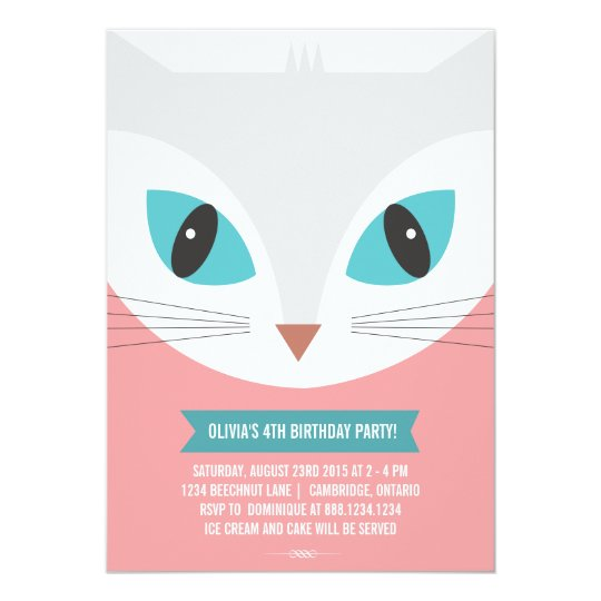 Cat Invitations Announcements – Cat Party Invitations