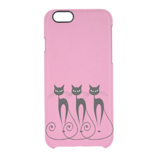 Whimsical cat PERSONALIZE Clear iPhone 6/6S Case