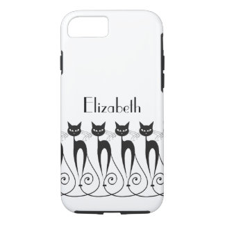 Whimsical cat PERSONALIZE iPhone 7 Case