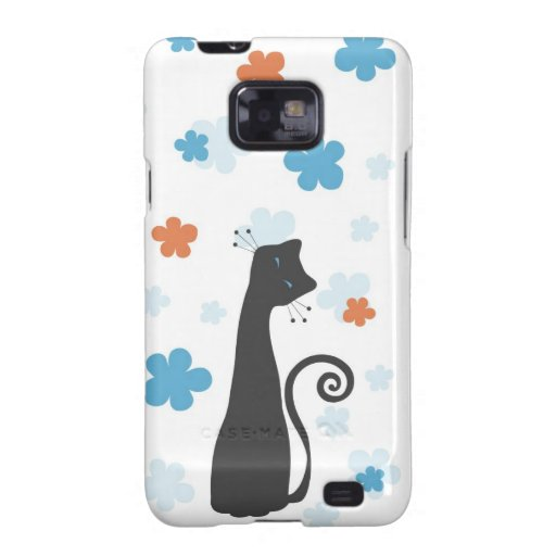 Whimsical Cat Samsung Galaxy S2 Case