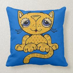Whimsical Cat Throw Pillows