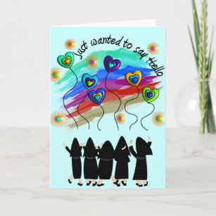 Whimsical Catholic Nun Greeting Cards