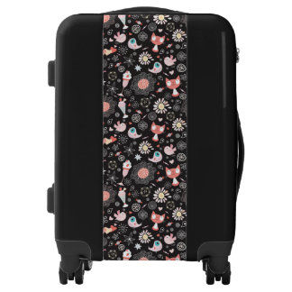 Whimsical Cats & Birds Carry-On Luggage