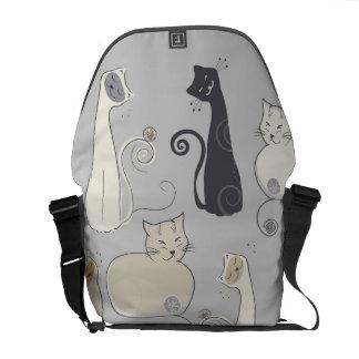 Whimsical Cats Messenger Bag