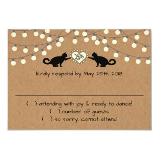 Whimsical Cats on bikes Response Card