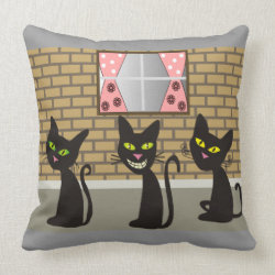 Whimsical Cats Pillow