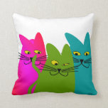 "Whimsical Cats Pillow ""Best Buddies"""